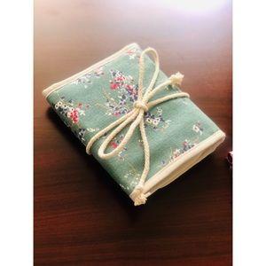 Adorable Floral Fold / Roll Up Travel Makeup Bag